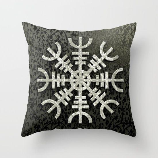 Aegirshjalmur is a protective viking/celtic symbol  #art #design #interior #homedecor #3dart #throwpillow #cushion #design #exclusive #viking #celtic #norway #iceland #aegirshjalmur #pillow