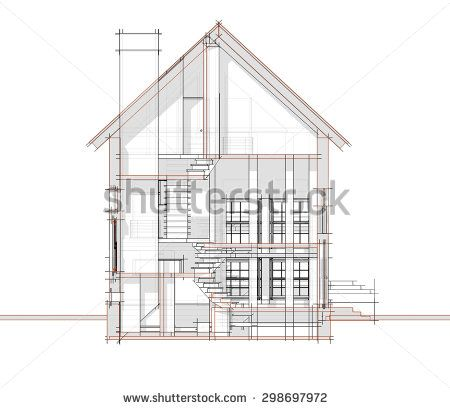 section of the house - stock photo