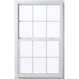 Pella 36X36 Thermastar By Pella Single Hung Vinyl 10 Series Grid Insulated Glass White With Screen 142775