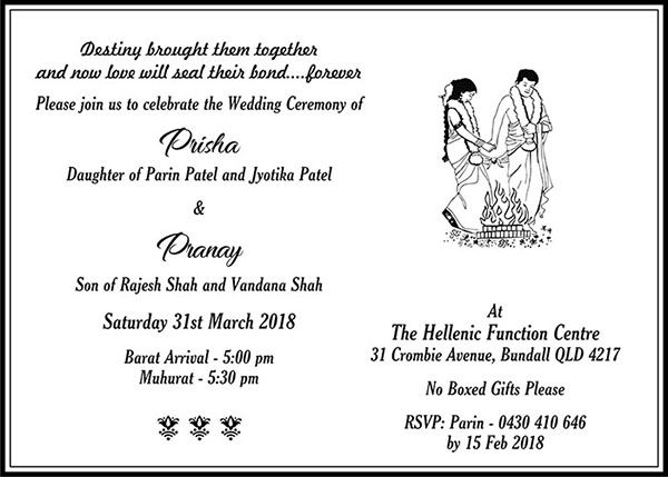 Hindu Wedding Cards Wordings Invitation