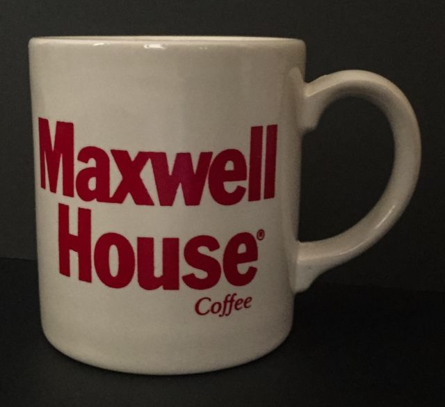 Vtg Maxwell House Coffee Mug Cup Grindley England Red Letters White  | eBay