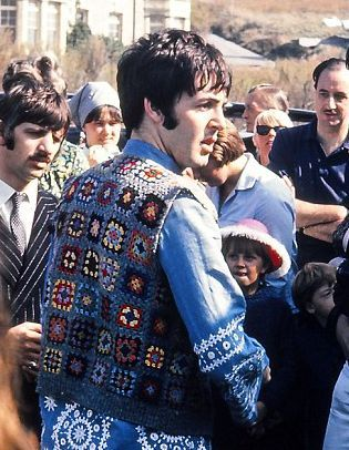 Paul McCartney is that you in a Granny Squares Vest, circa 1967?