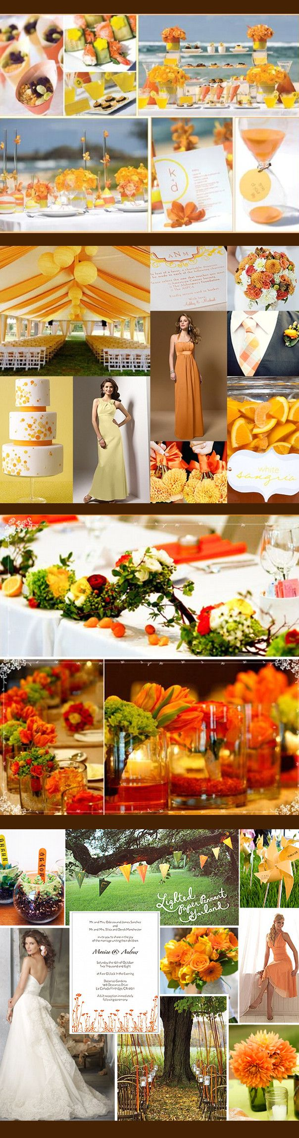 Yellow & Orange Wedding Colors, just to show my mother it can be done