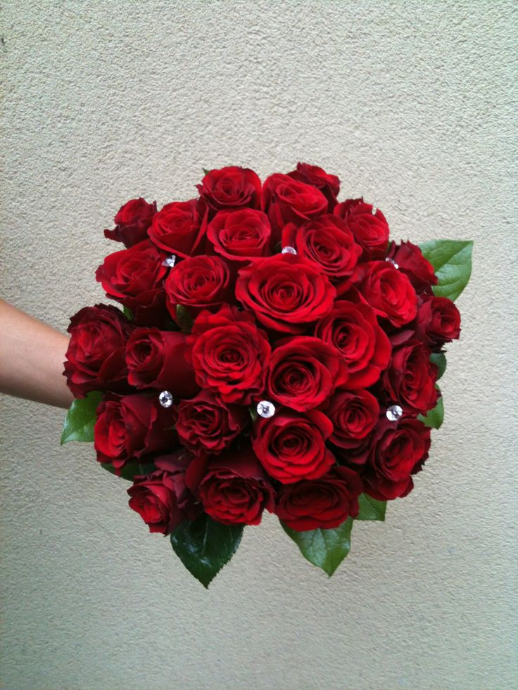 simple and perfect. wedding / bridal bouquet, red roses