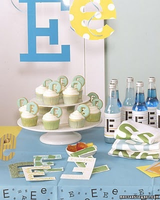 Birthday party based on first letter of child's name (could also do number for that birthday instead)