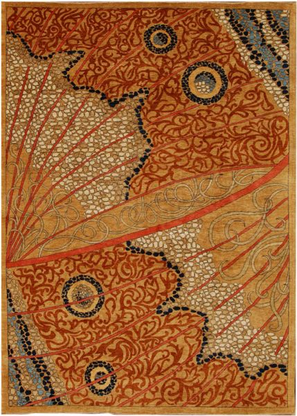 Moth Wing rug, designed by Meyghan