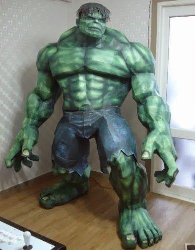 Life Size Incredible Hulk Papercraft | Tektonten ...