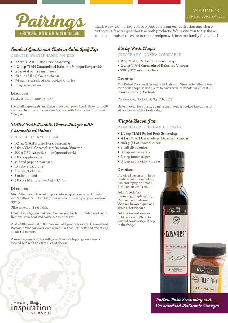 Volume 13 Pairings SAVE 20% until June 30.. Caramelised Balsamic Vinegar may just travel in my handbag a lot lol... www.kylieelms.youinspirationathome.com.au