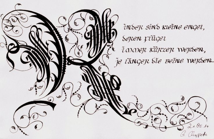 Kalligraphie Cadels K My Art Pinterest