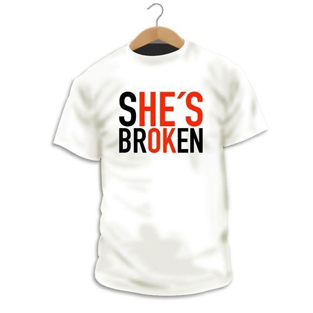 """Has visto nuestro diseño """"She's Broken - He's Ok""""? http://ift.tt/2BjqOC1  La violencia de género es un sinsentido en si misma no se puede permitir el control o el abuso de una persona sobre otra en ningún caso si estás en esta situación pide ayuda lo antes posible por ejemplo al teléfono 016.  Ní una víctima más  #Camiseta #CamaradaCamisetista #Design #Diseño #ShopOnline #Shopping"""
