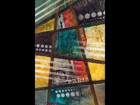 Como hacer un cuadro tipo poster con pinturas para seda - YouTube