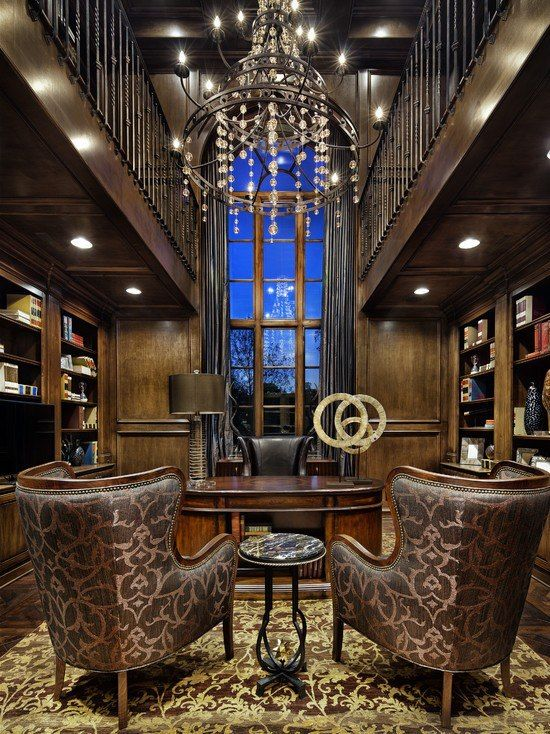 Best Home Office Library Images On Pinterest Office Ideas