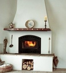 fireplace spanish style | of the fireplace mantel shelves on the Southwestern style fireplaces ...