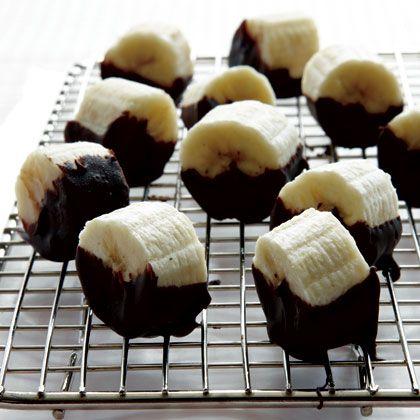 Chocolate-Dipped Banana Bites