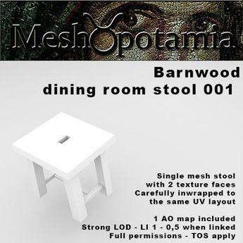 Meshopotamia Barnwood Stool 001 w AO texture
