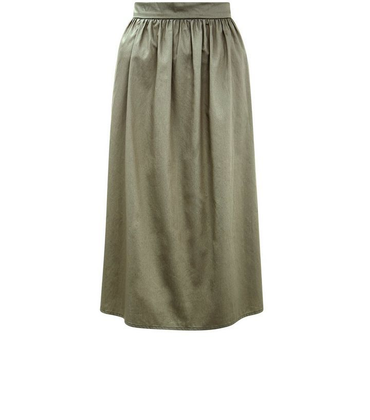 Khaki Balloon Midi Skirt | New Look // Blair Waldorf