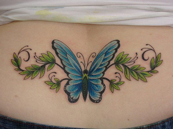 Butterfly Low Back Tattoo - 60  Low Back Tattoos for women  <3 <3