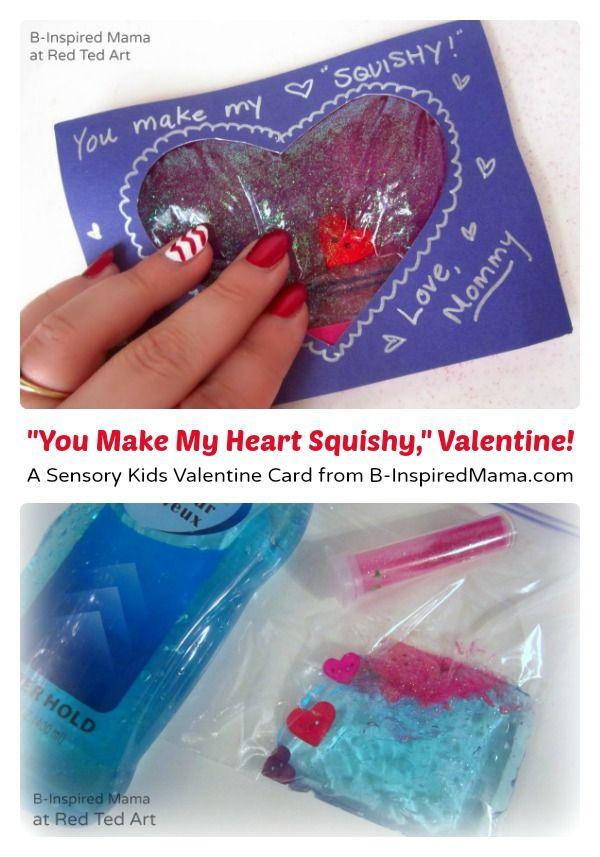 "A #sensory ""Squishy"" Heart Kids Valentine Card - #kids #Valentines #kbn"