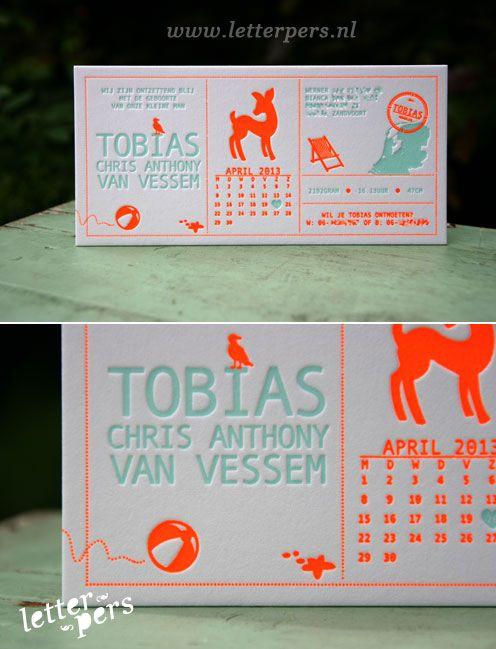 letterpers_letterpress_Tobias_strand_hert_bal_nederland_kalender