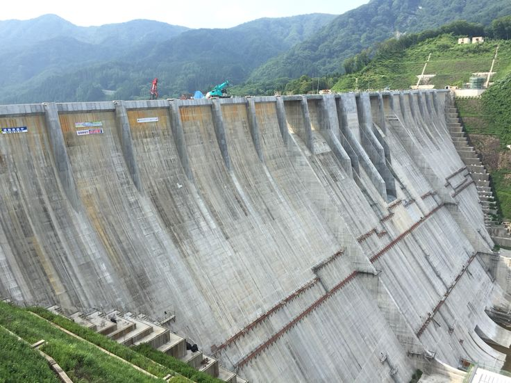 Tsugaru dam under construction
