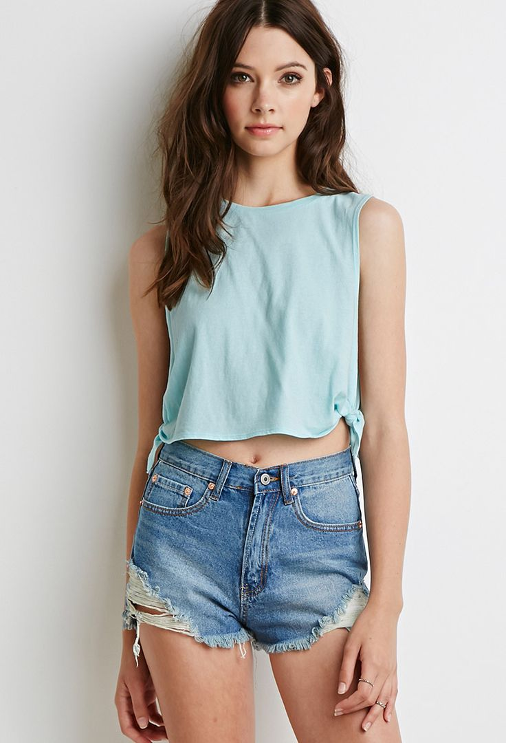 Side-Knot Muscle Tee | Forever 21 - 2000096588