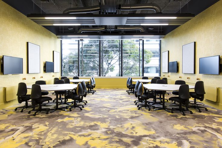 Location: Arts West, University of Melbourne, Australia. Carpet design from the Montgolfier collection: yellow.