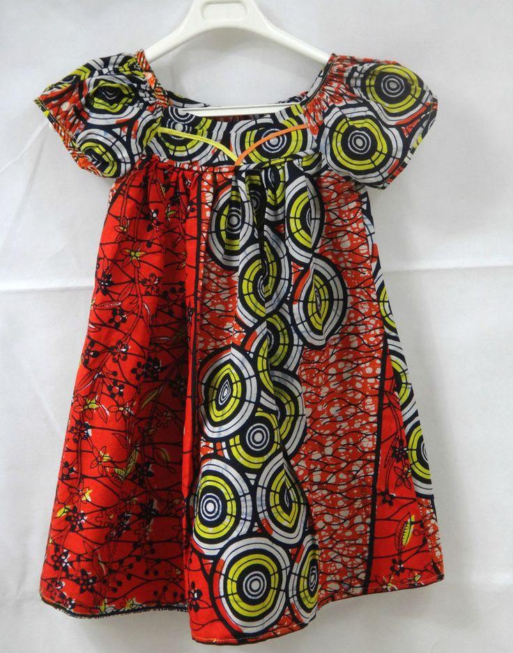 ROBE MINI KABA ENFANT - TISSU PAGNE - 100% COTON - 5 ans