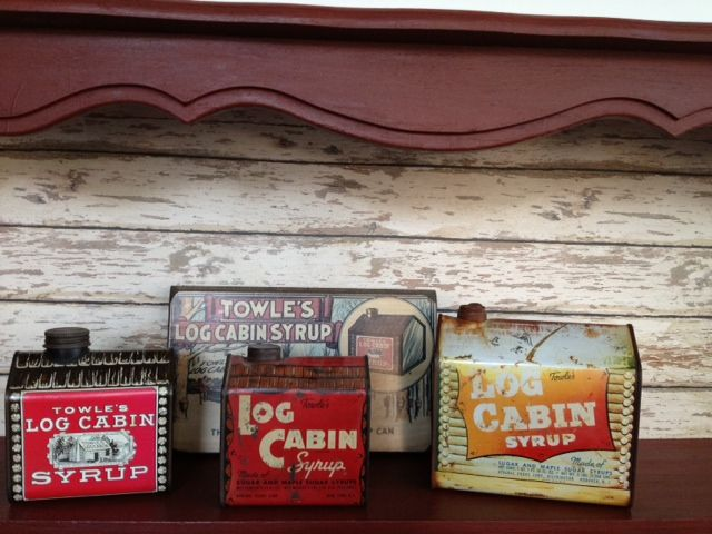 Towle's Log Cabin Syrup Cans