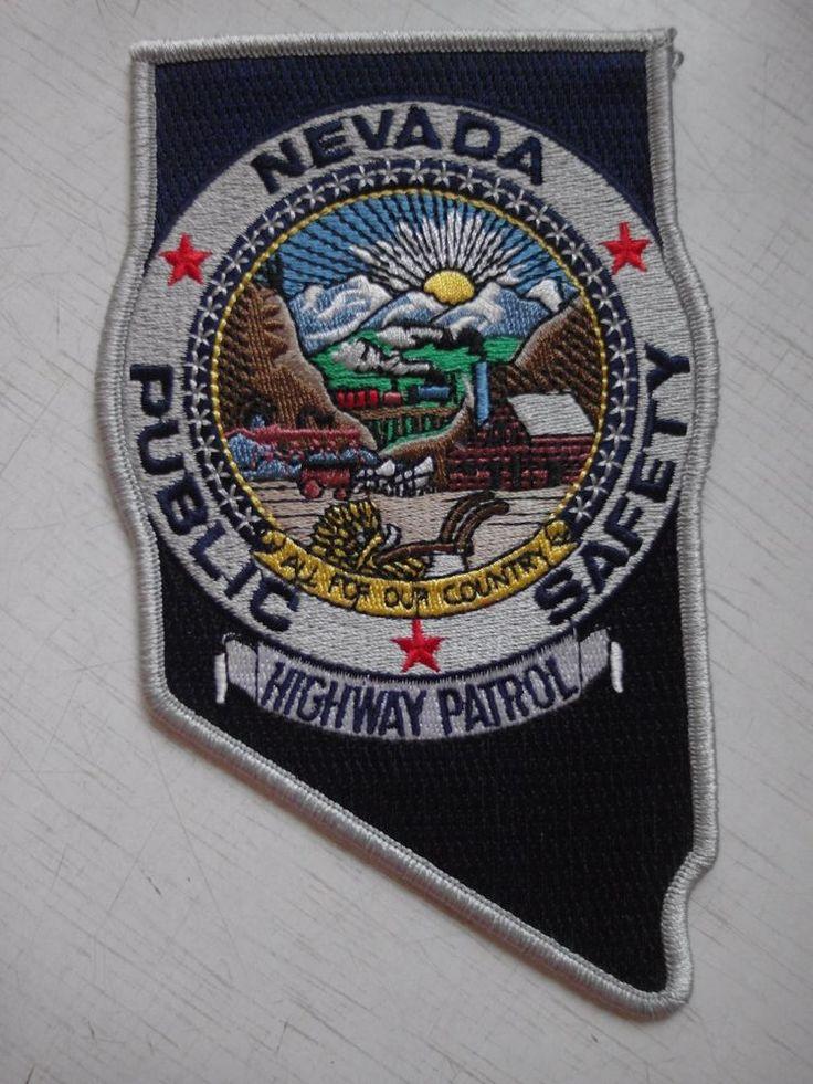 Patch Nevada Highwae Patrol Public Safety Police Department USA Original New Rar