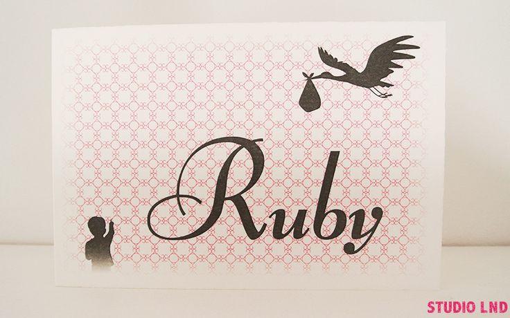 Geboortekaartje Ruby 29/01/2016