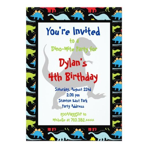 395 best Dinosaur Birthday Party Invitations images – Kids Party Invitations Online