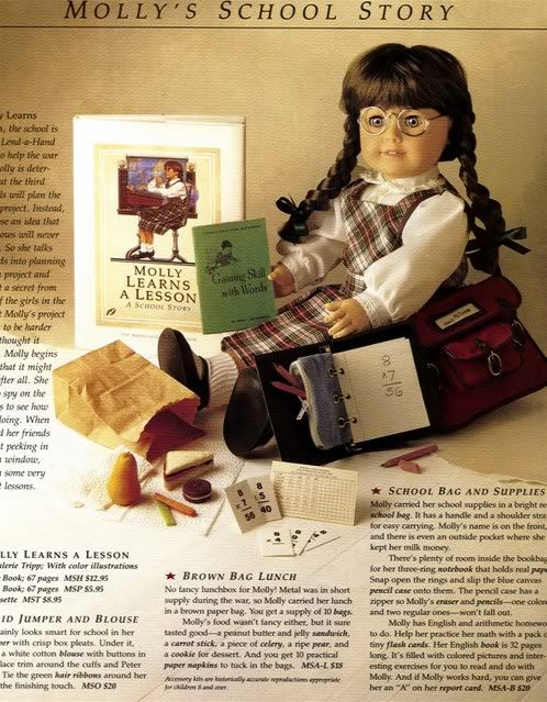 what the catalog looked like when I got my Samantha doll in '92 when there were the three original dolls-Kirsten, Samantha and Molly. #Molly # Pleasant Company #American Girl