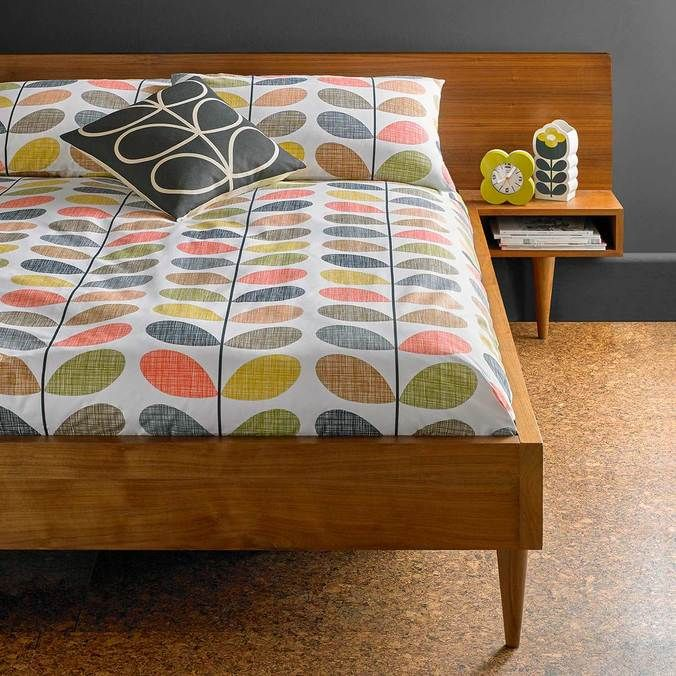 Orla Kiely Scribble Stem Multi Bedding Dotmaison King Size Duvet Covers Super King Duvet Covers Duvet Bedding