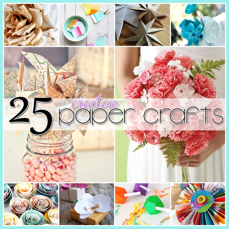 25 Paper Crafts for the whole family... flowers, origami, aging paper and much more. Some really pretty ideas here!