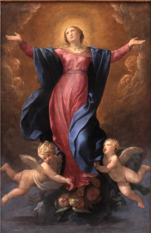 August 15th Feast of the Assumption of the Blessed Virgin Mary (Assumption of the Virgin, 1580 - Guido Reni)