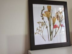 Aprenda a prensar flores para fazer lindas decorações para sua casa! :) #decoração #decoration #quadros #flores                                                                                                                                                                                 Más