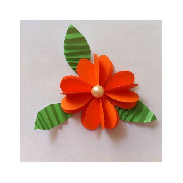 daire_kağıtlardan_çiçekler