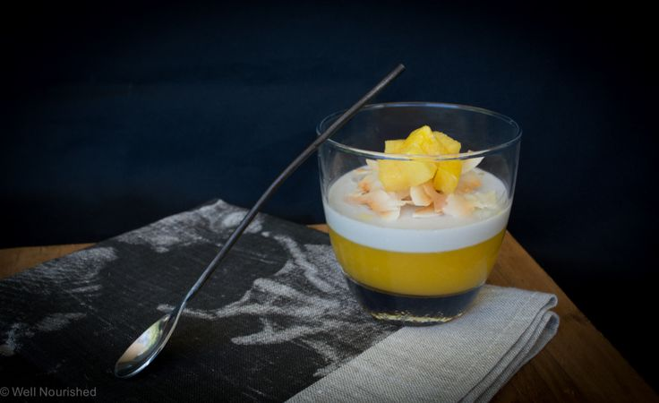 This Mango and Coconut parfait (with salted pineapple) is a fast, simple, refreshing and oh so nourishing summertime dessert. Yes it really is good for you. It is refined sugar-free, gluten, dairy and grain-free (low-fructose option too).