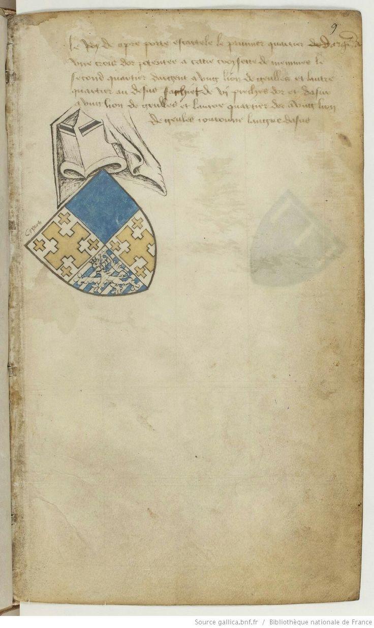 Wappen mit Jerusalemkreutz / Coat of Arms with Jerusalem's Cross / Escudo de Armas con Cruz de Jerusalén