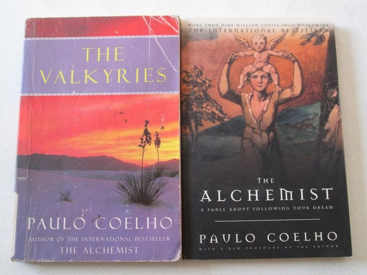 PAULO COELHO LOT OF 2 PAPERBACKS THE ALCHEMIST and THE VALKYRIES Books Novels PB