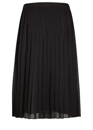 Hobrogade plisseret nederdel fra Kjær København, er helt klart et af efterårs must haves. Pasformen er normal og perfekt at style med et par herreinspirerede sko eller cool støvler.  Størrelse: XS, S, M, L og XL Farve: Black Materiale: 100% Polyester Pasform: Normal Vaskeanvisning: 30 grader maskinvask  Detaljer: Plisseret, længden når til under knæet