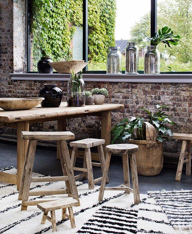 17 meilleures id es propos de tabouret bois sur pinterest table tronc peint et souches de bois. Black Bedroom Furniture Sets. Home Design Ideas