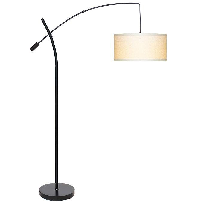 Brightech Grayson Led Arc Floor Lamp Tall Pole Standing Light Arches Over Living Room Sofa Or Over Bed Ad Tall Floor Lamps Arc Floor Lamps Lamps Living Room