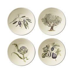 Napa Farmhouse Dinner Plates, Set of 4, Olive
