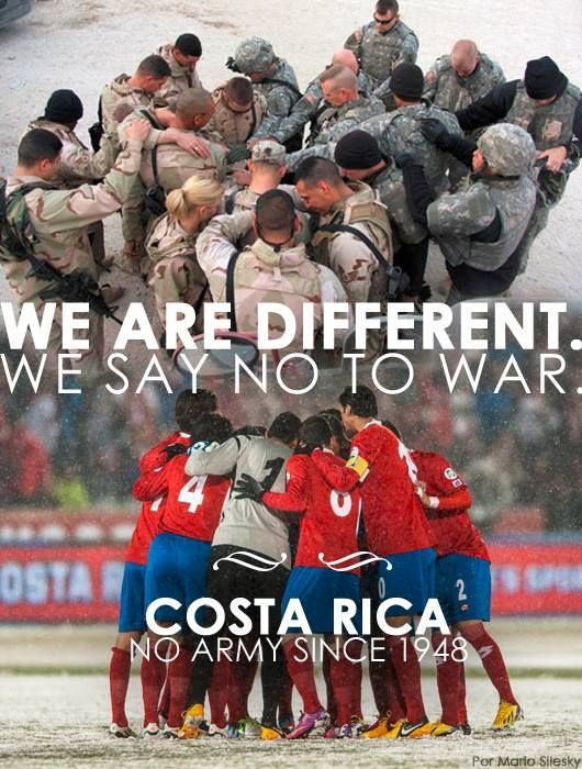 Costa Rica is one of the only countries in the world that does not have an army.  Pinned by www.4tulemar.com