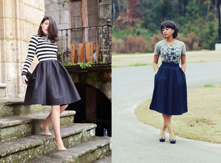 Midi Skirt and skirts below the knee: super trendy summer 2014!