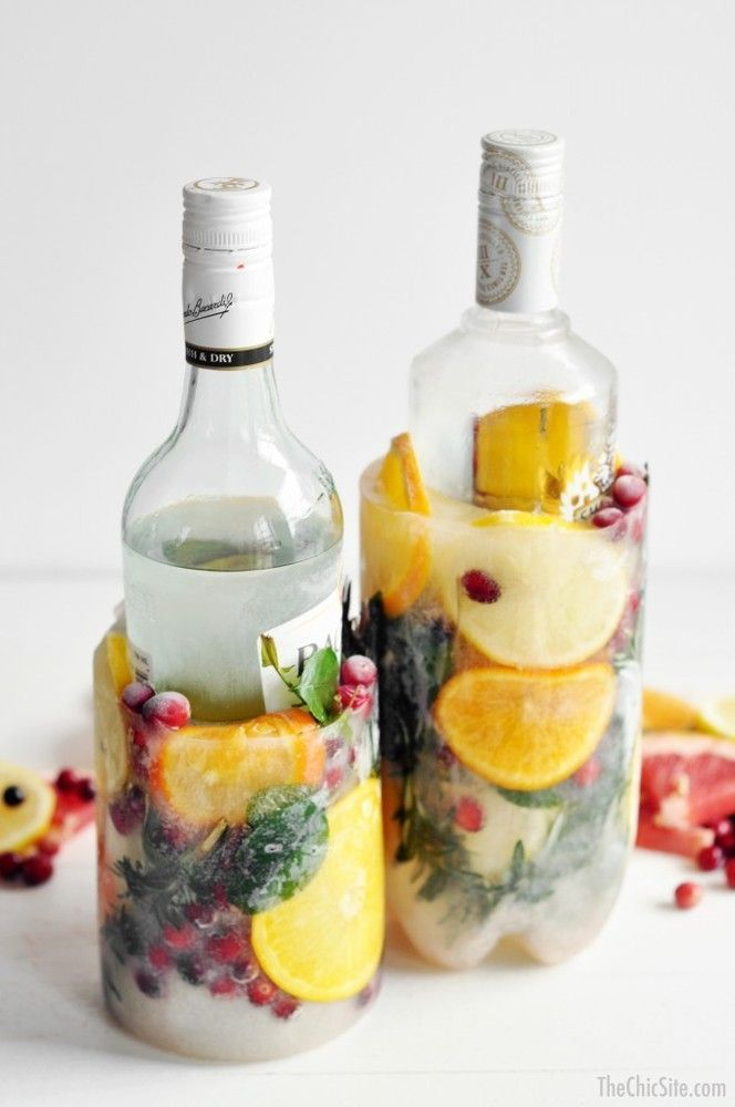 Impress your friends with these amazing wine ice buckets at your next summer party!
