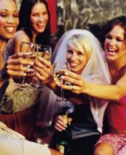 The maid of honor typically helps to plan the bridal shower and bachelorette party.