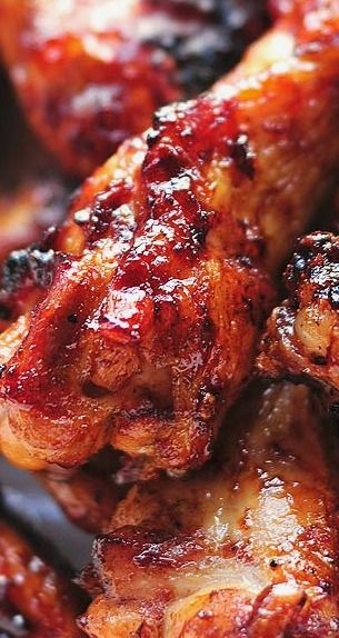 Sweet and Spicy Grilled Chicken Wings ~ A Lighter Version of Chicken Wings with all The Flavor.