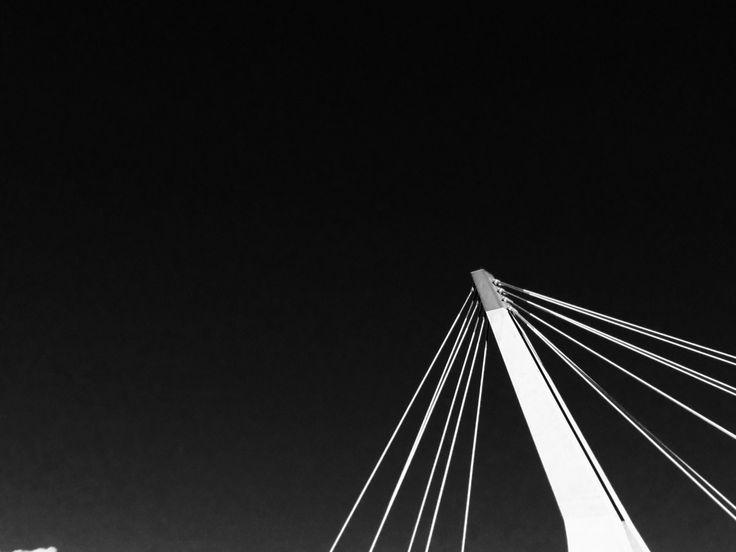 A single cloud in the sky #photo #ottawa #blackandwhite